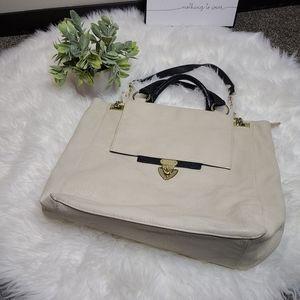 Olivia + Joy Cream and Black Shoulder Bag